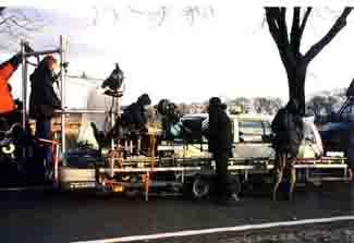 Arbeiten auf dem Set